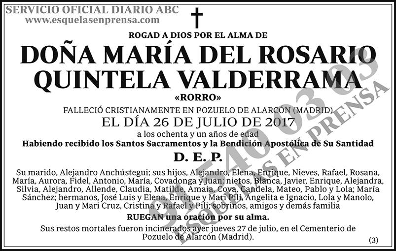 María del Rosario Quintela Valderrama